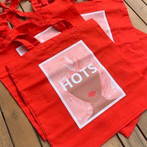 bolsa personalizada roja